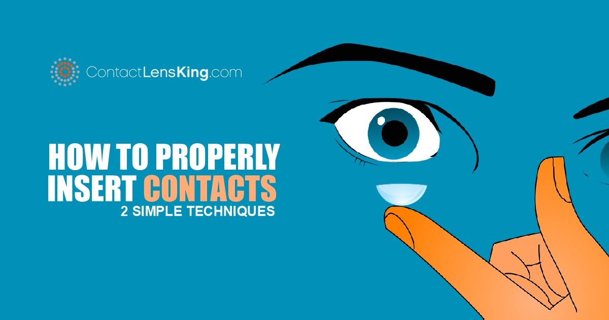 Inserting contact lenses